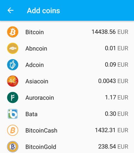 Add Bitcoin Gold to Coinomi